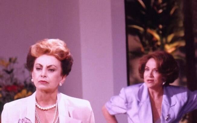 Beatriz Segall e Nathalia Timberg em cena da novela