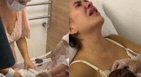 Lore Improta conta que seus seios estão machucados
