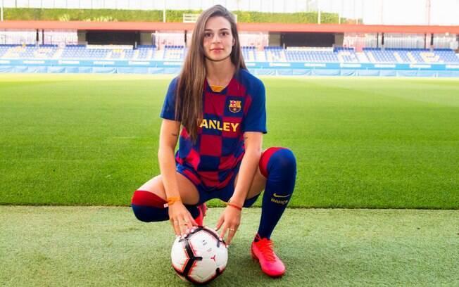 Jogadora brasileira no Barça