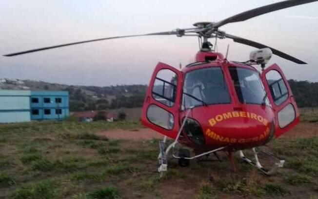 Criança foi socorrida por Samu e levada em helicóptero do Corpo de Bombeiros a Alfenas