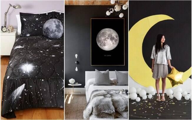 Em uma festinha para ver o eclipse lunar, a decoração também é importante e pode ser incrementada de várias formas