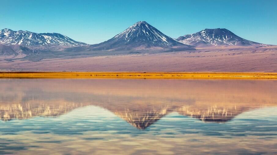 O deserto do Atacama tem diversas paisagens