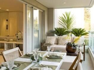 Cuide para que a decoração da área externa esteja em harmonia com o interior da casa