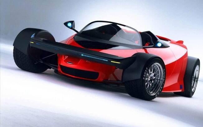 Misturar os carros da Fórmula Indy com veículos de rua deu origem ao conceito Ford Indigo, com chassi de fibra de carbono e motor 6.0 V12 de 435 cv.