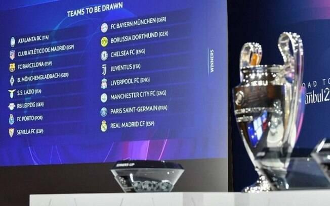 Uefa divulga datas dos confrontos