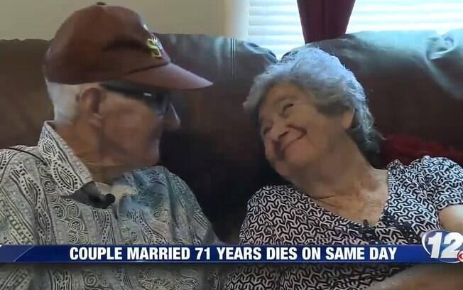 Os dois estavam casados há 71 anos e morreram com apenas 12 horas de diferença, nos Estados Unidos
