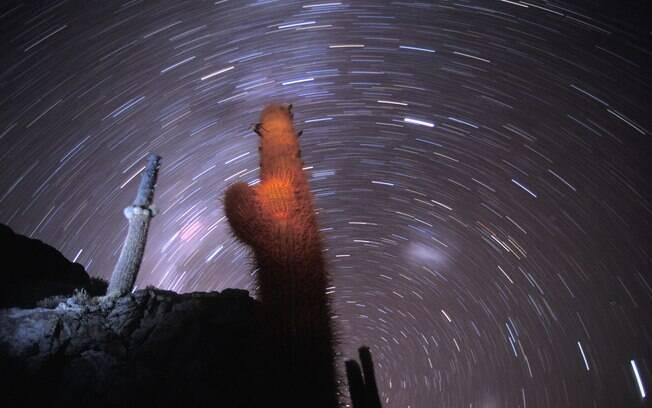 Céu estrelado do deserto de Atacama.
