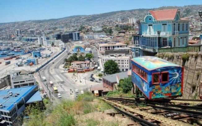 Na viagem com o Nissan X-Trail, conhecemos o bondinho que leva ao Cerro Alegre em Valparaíso