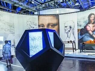 Invenção. Conhecido pela autoria de obras como a Mona Lisa, pintor italiano é visto sob outra perspectiva na exposição