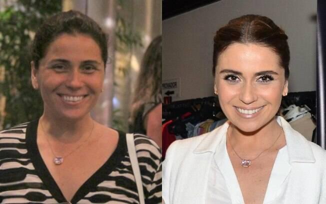 Giovanna Antonelli circula de cara lavada em shopping center carioca