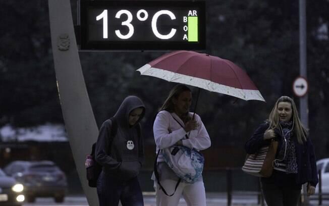 Temperaturas ficaram abaixo dos 10ºC