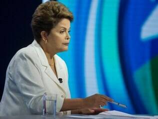 Brazil's President Dilma Rousseff, presidential candidate for re-election of the Workers Party, PT, attends a presidential debate in Sao Paulo, Brazil, Sunday, Oct. 19, 2014. Rousseff will face Aecio Neves, presidential candidate of the Brazilian Social Democracy Party, PSDB, in a presidential runoff on Oct. 26. (AP Photo/Andre Penner)