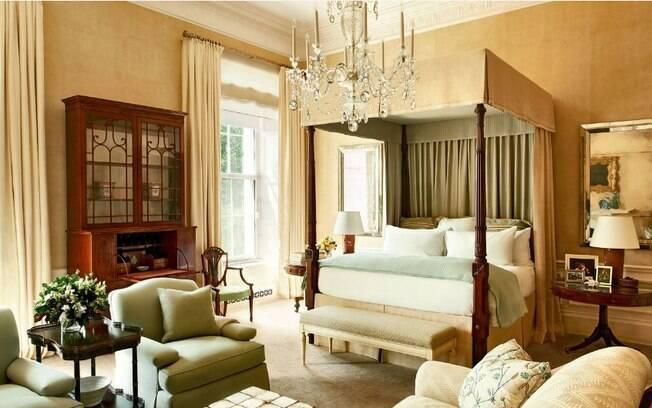 O quarto do casal Obama tem decoração mais sóbria do que os outros ambientes