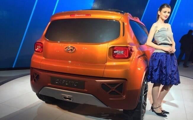 Traseira do modelo conceitual, que lembra a do Jeep Renegade, dá pista de como poderá ser o novo SUV da Hyundai