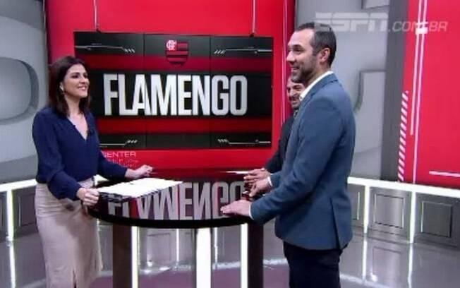Mãe de Gustavo Hofman ligou para o filho, que estava ao vivo na ESPN