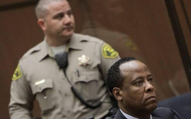 O médico Conrad Murray, acusado pela Promotoria de ser o responsável pela morte de Michael Jackson