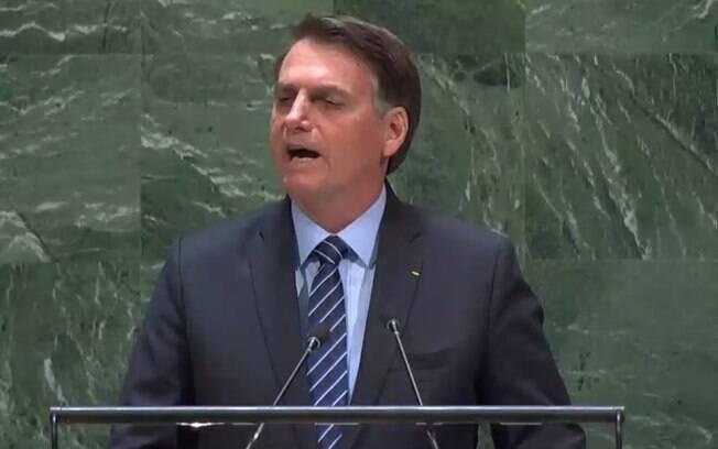 Bolsonaro falou por mais de 30 minutos em discurso na ONU