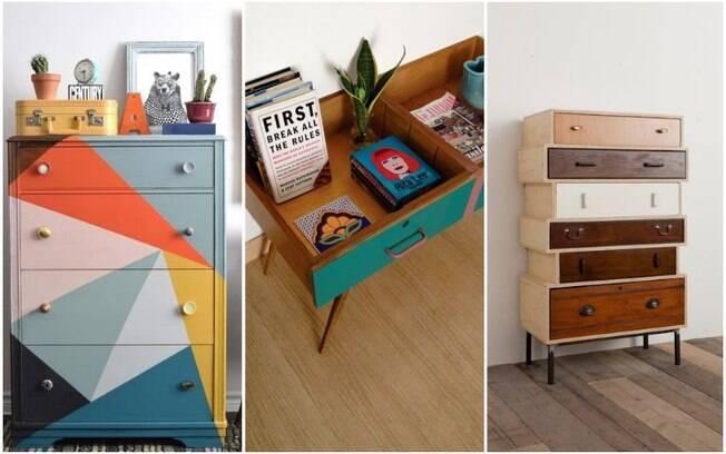 Reformar móveis ou usar partes deles para criar outros objetos é uma tendência chamada