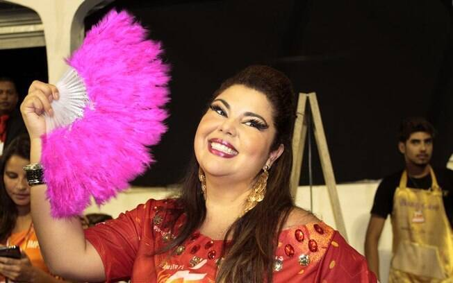 Fabiana Karla também passou pelo camarote paulistano