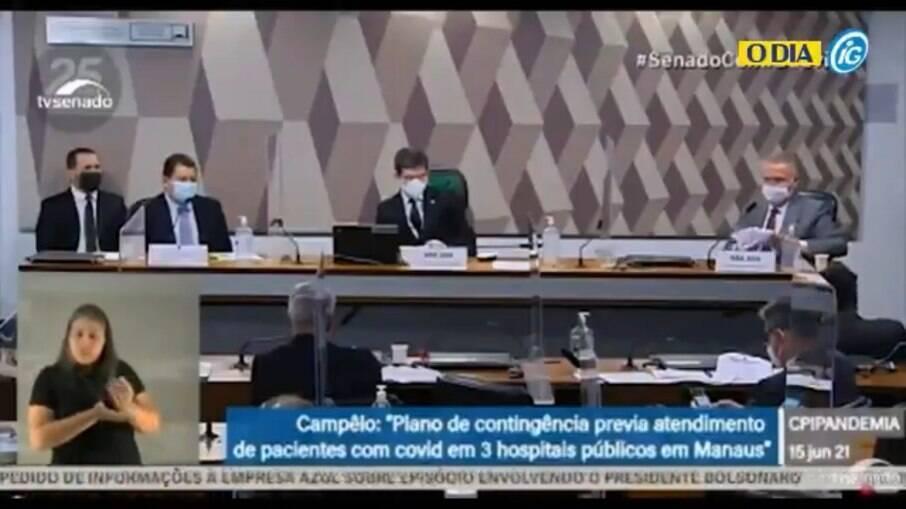Marcellus Campêlo, ex-secretário de saúde do Amazonas, presta depoimento à CPI da Covid-19