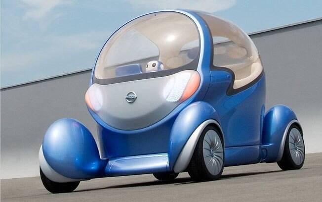 O Nissan Pivo 2 era a solução de mobilidade urbana da marca, capaz de andar de lado, com uma cabine giratória e um robozinho que serve de assistente.