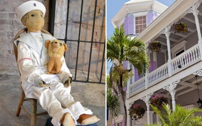 Boneco Robert e casa que ele assombrava na Flórida (EUA)