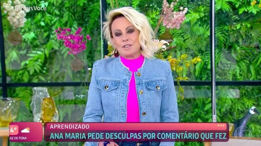 Ana Maria pede desculpas por usar expressão racista