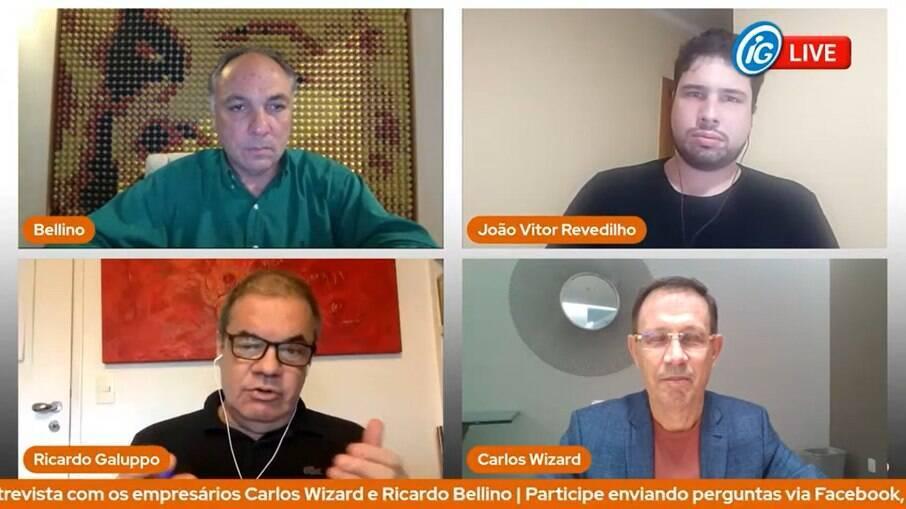 A dupla de empresários foi entrevistada na live do Brasil Econômico de 31 de março