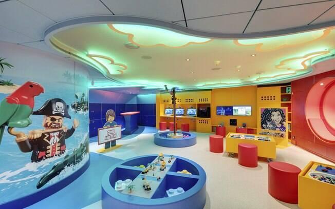 As crianças  de sete a 11 anos podem aproveitar em outro espaço do navio da MSC Cruzeiros,  o Junior Club