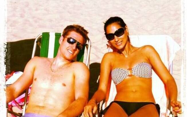 Jaqueline e Murilo curtem as férias na praia  depois das Olimpíadas de Londres