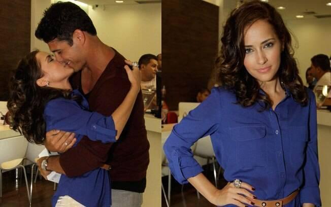 Maitê Piragibe com o marido Marlos Cruz