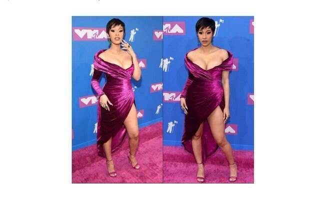 Cardi B no tapete vermelho da premiação MTV Video Music Awards 2018