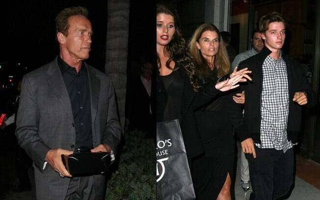 Arnold foi clicado em um jantar com sua ex-mulher