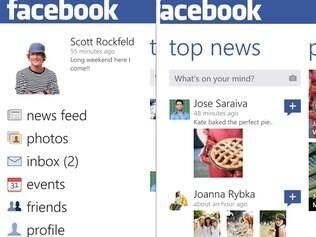 Nova versão do aplicativo do Facebook para Windows Phone