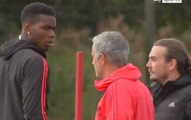 A relação entre Pogba e Mourinho no Manchester United não era nada boa, e os dois chegaram a dicutir em treinamento