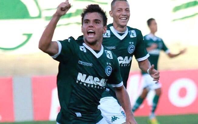 Rodrigo comemora o gol que evitou a derrota do Goiás para o Grêmio. Foto: Reprodução/Instagram/Goiás