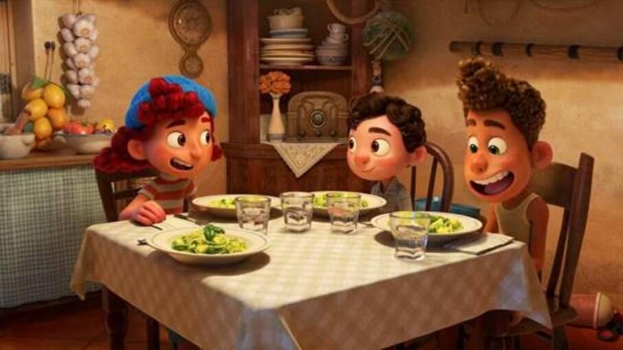 Cena do filme Luca com a receita italiana