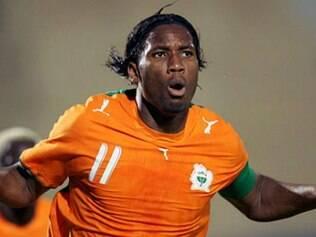 Didier Drogba abriu o placar para a Costa do Marfim
