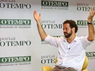 Esportes - Do dia - Contagem MG Visita a redacao do presidente do time de futebol Clube Atletico Mineiro Galo Daniel Nepomuceno  FOTO: MARIELA GUIMARAES / O TEMPO 2.2.15