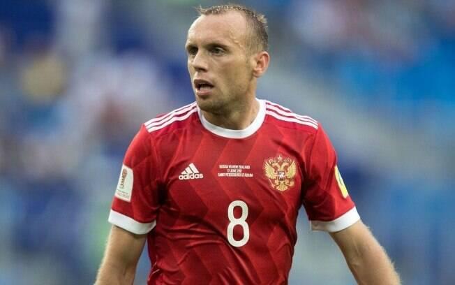 Denis Glushakov é jogador do Spartak Moscou, da Rússia