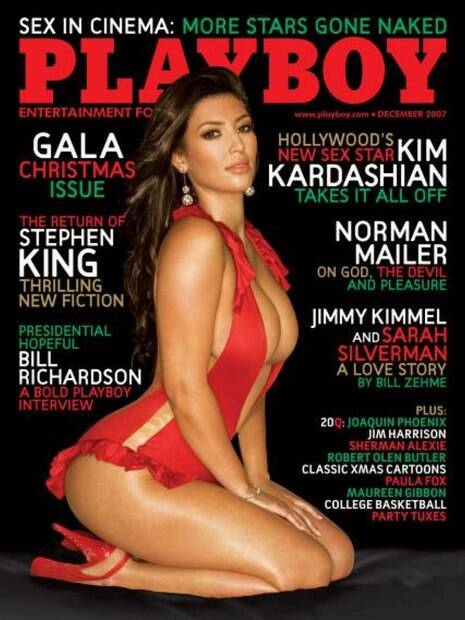 A socialite Kim Kardashian foi capa da Playboy americana em 2007