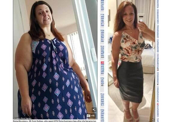 Doina percebeu como a obesidade atrapalhava o seu dia a dia e até o trabalho. Agora ela está com o corpo dos sonhos
