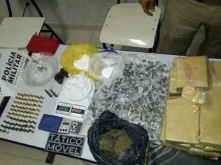 Parte da droga encontrada estava pronta para venda