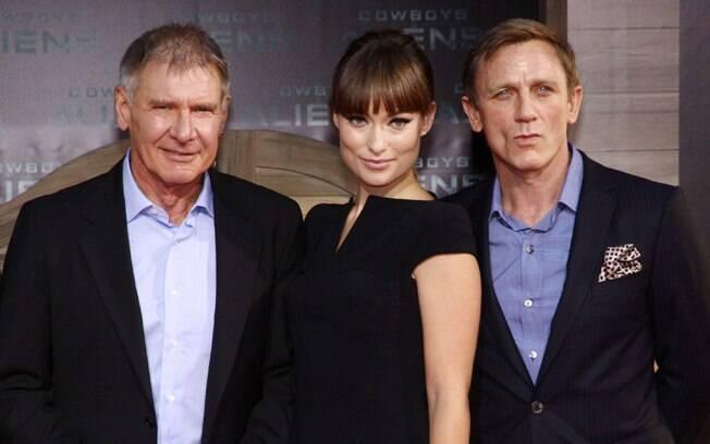 Harrison Ford, Olivia Wilde e Daniel Craig