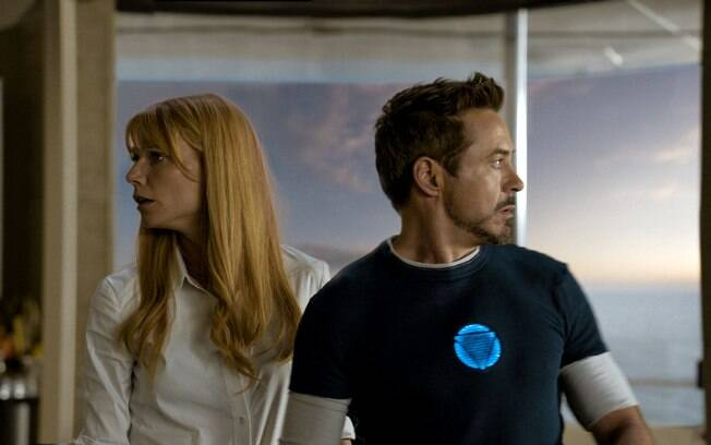 Gwyneth Paltrow e Robert Downey Jr em