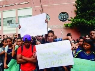 Ato foi organizado para ser pacífico, segundo uma das alunas