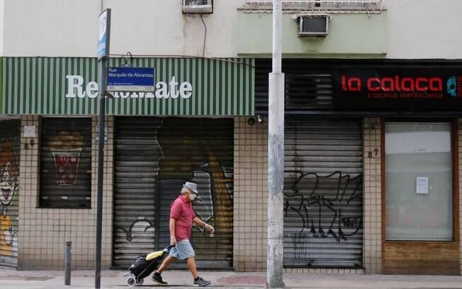 Comércios fecharam por causa do coronavírus