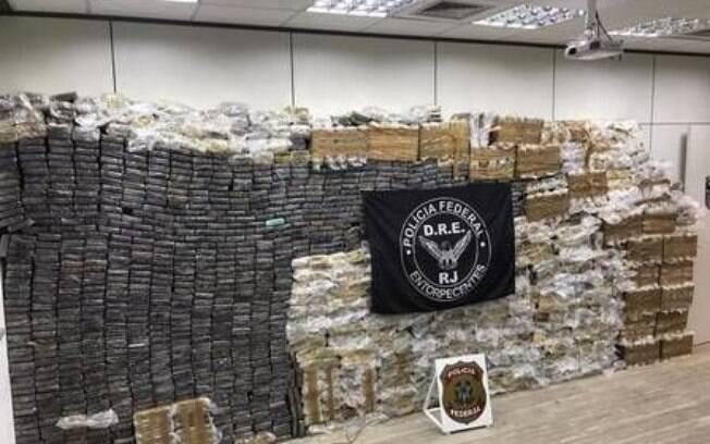 Cocaína apreendida no Rio