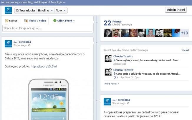 iG Tecnologia ganha página no Facebook