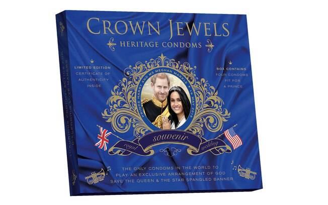 A empresa lançou a camisinha em edição comemorativa por causa do casamento entre o Príncipe Harry e Meghan Markle